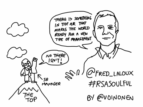 Frederic Laloux RSA talk cartoon